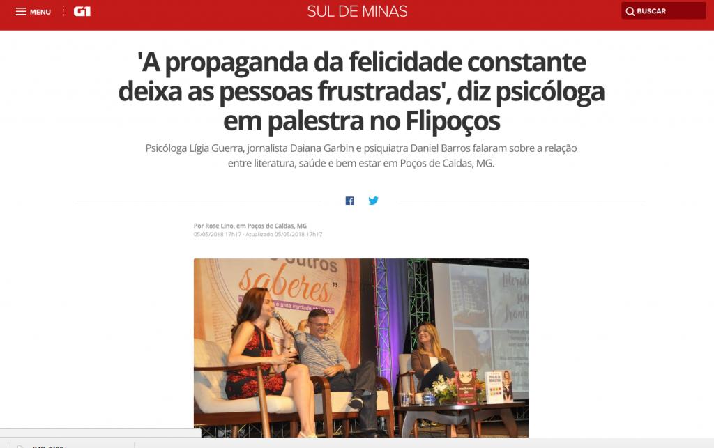 Lígia Guerra destaque no jornal de Minas